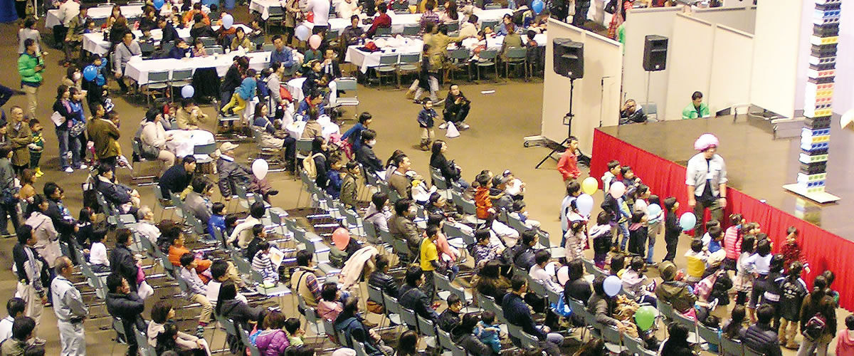 1階 大展示ホール「Arena」/ハイブ長岡|一般財団法人 長岡産業交流会館